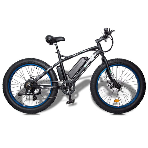 Image of ECOTRIC Fat Tire Electric Bike blue side view