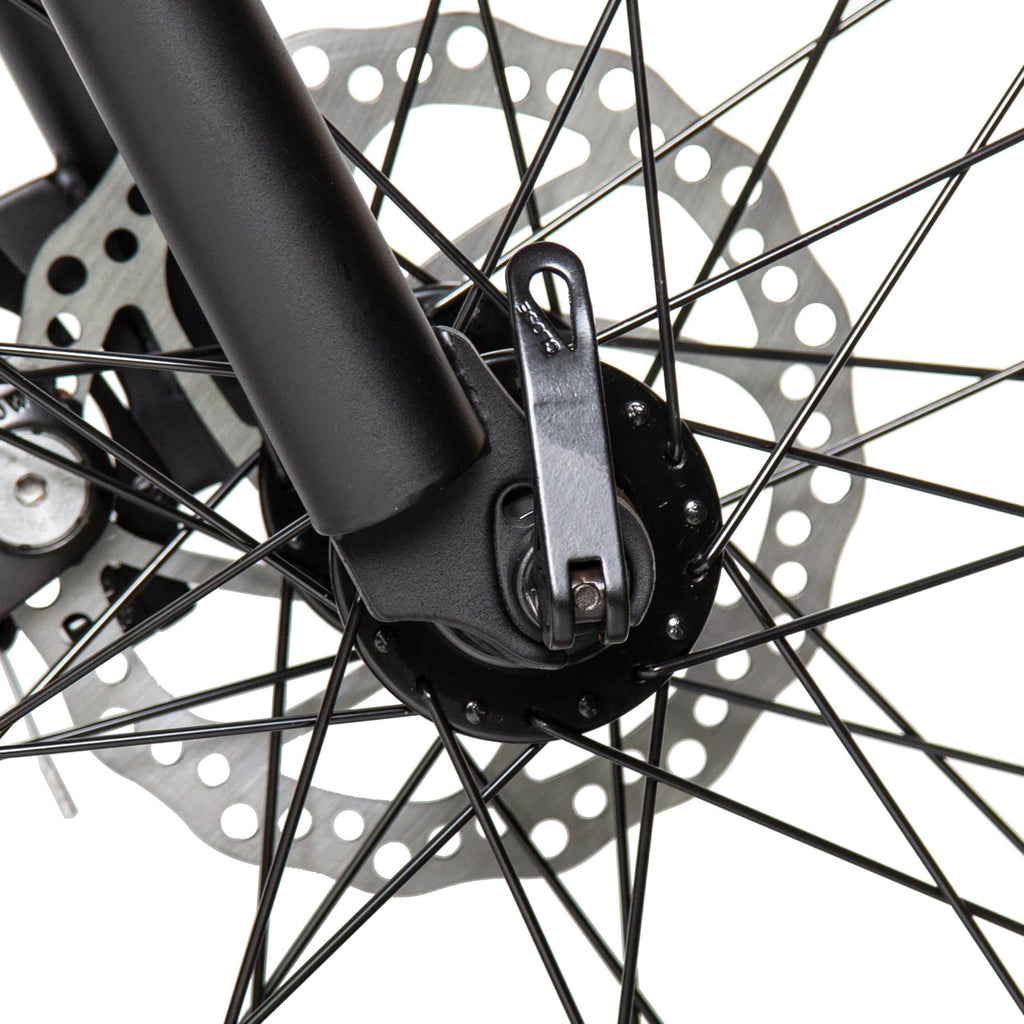 ECOTRIC Fat Tire Electric Bike disc brakes close up