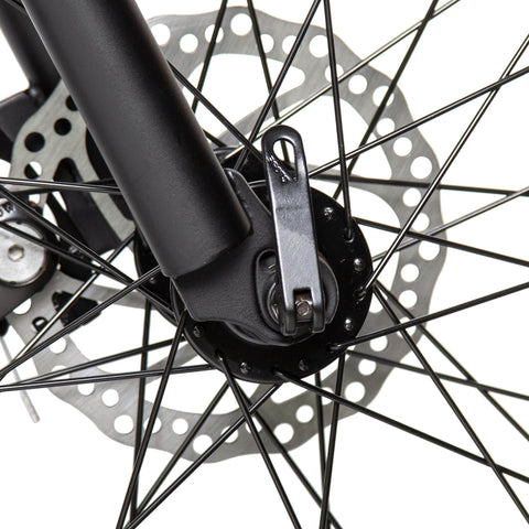 Image of ECOTRIC Fat Tire Electric Bike disc brakes close up