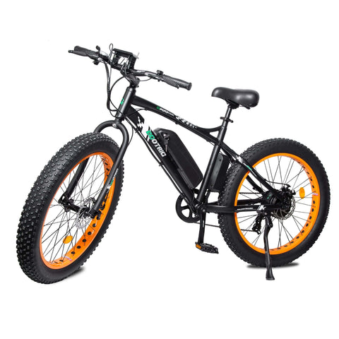 Image of ECOTRIC Fat Tire Electric Bike orange front angle view