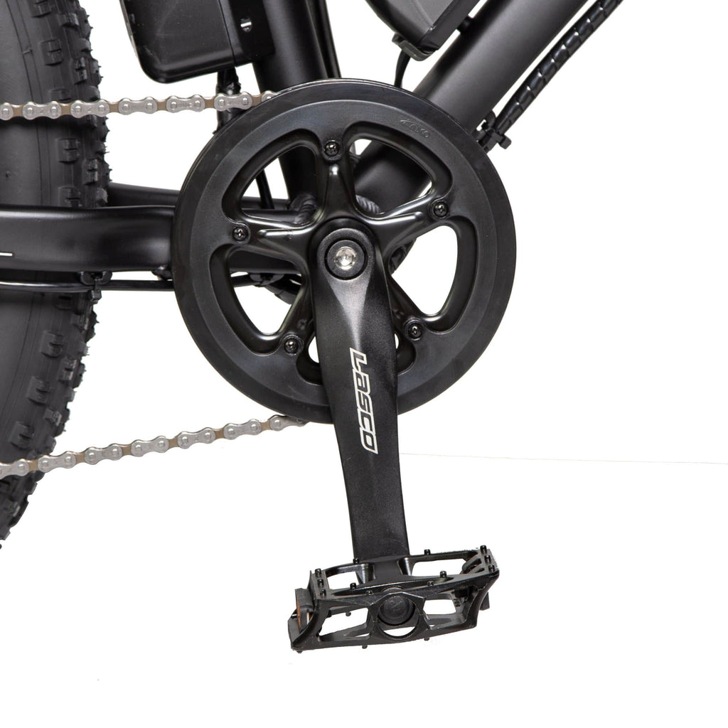 ECOTRIC Fat Tire Electric Bike pedals close up