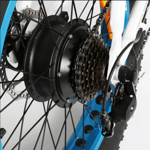 Image of ECOTRIC 48V Fat Tire Foldable Electric Bike gears close up