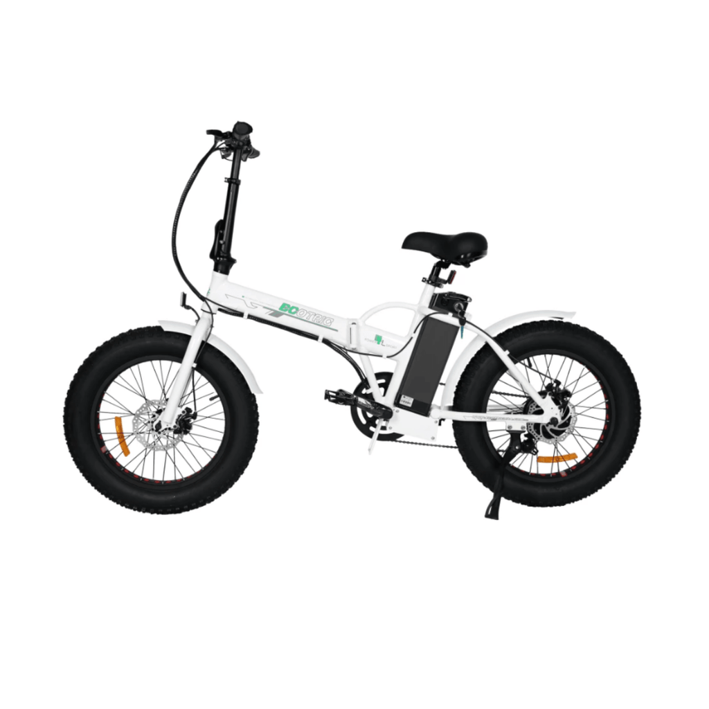 ECOTRIC Fat Tire Foldable Electric Bike white side angled view