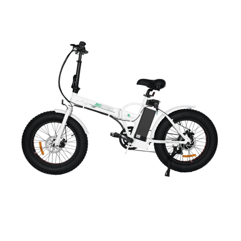 Image of ECOTRIC Fat Tire Foldable Electric Bike white side angled view