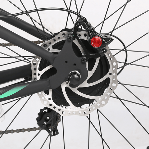 Image of ECOTRIC Hammer Fat Tire Electric Bike disc brakes rear close up