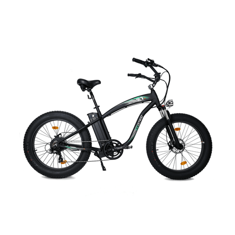Image of ECOTRIC Hammer Fat Tire Electric Bike black right side view