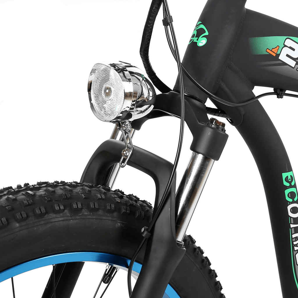 ECOTRIC Hammer Fat Tire Electric Bike suspension close up