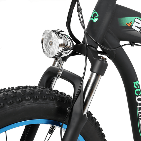 Image of ECOTRIC Hammer Fat Tire Electric Bike suspension close up