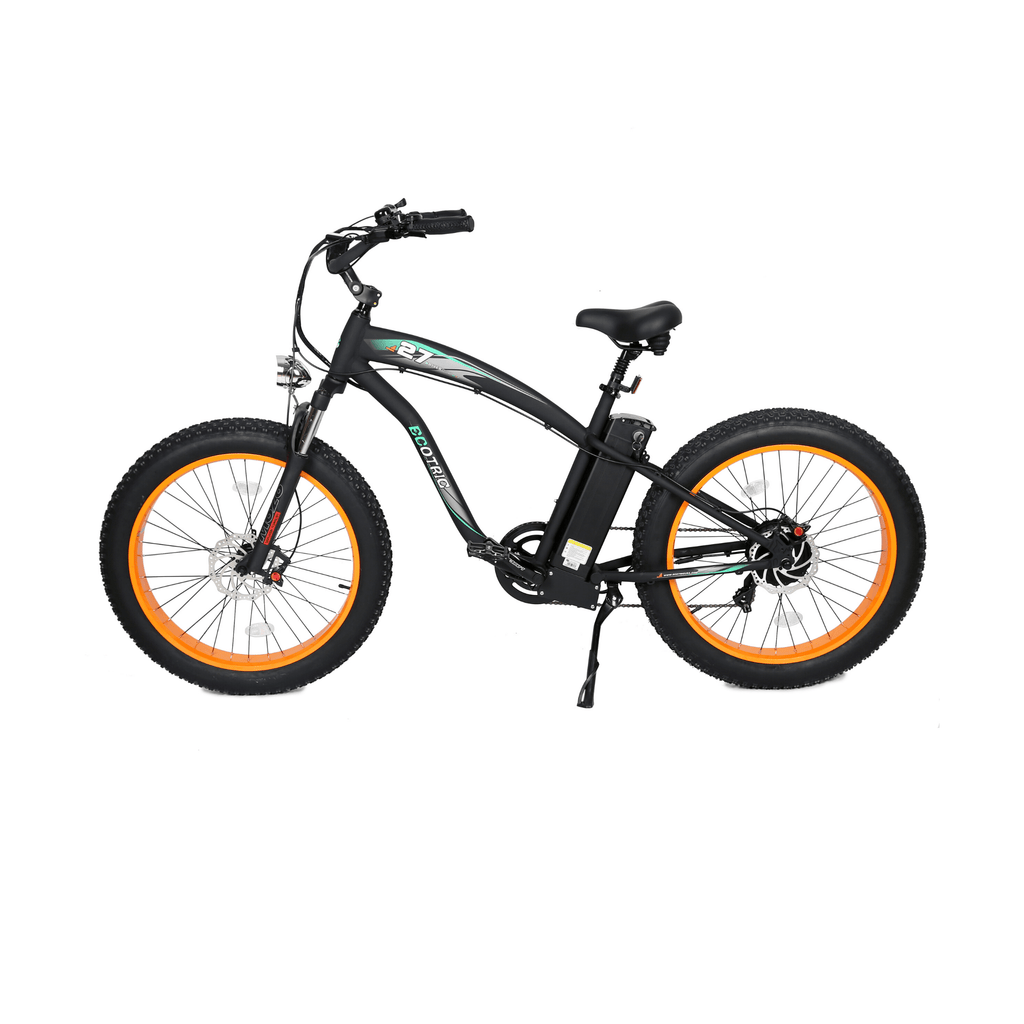 ECOTRIC Hammer Fat Tire Electric Bike orange side view