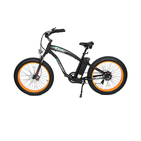 Image of ECOTRIC Hammer Fat Tire Electric Bike orange side view