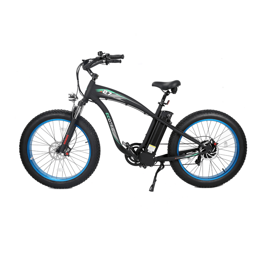ECOTRIC Hammer Fat Tire Electric Bike blue side view