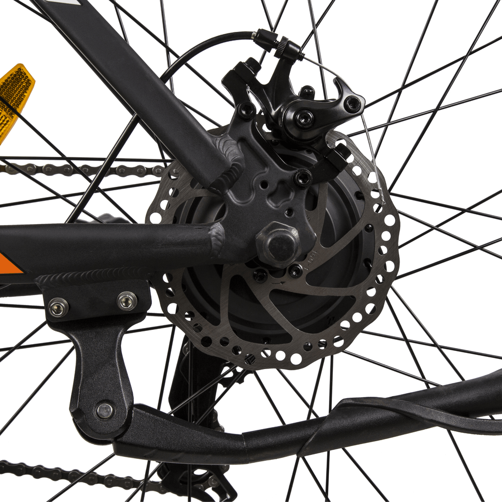 ECOTRIC Leopard Electric Mountain Bike spokes close up