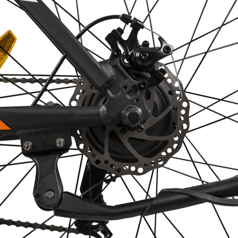 Image of ECOTRIC Leopard Electric Mountain Bike spokes close up