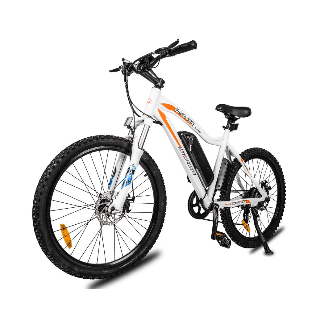 ECOTRIC Leopard Electric Mountain Bike front left angle view