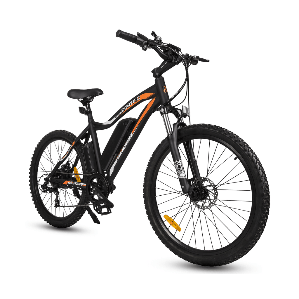 ECOTRIC Leopard Electric Mountain Bike black side angled view
