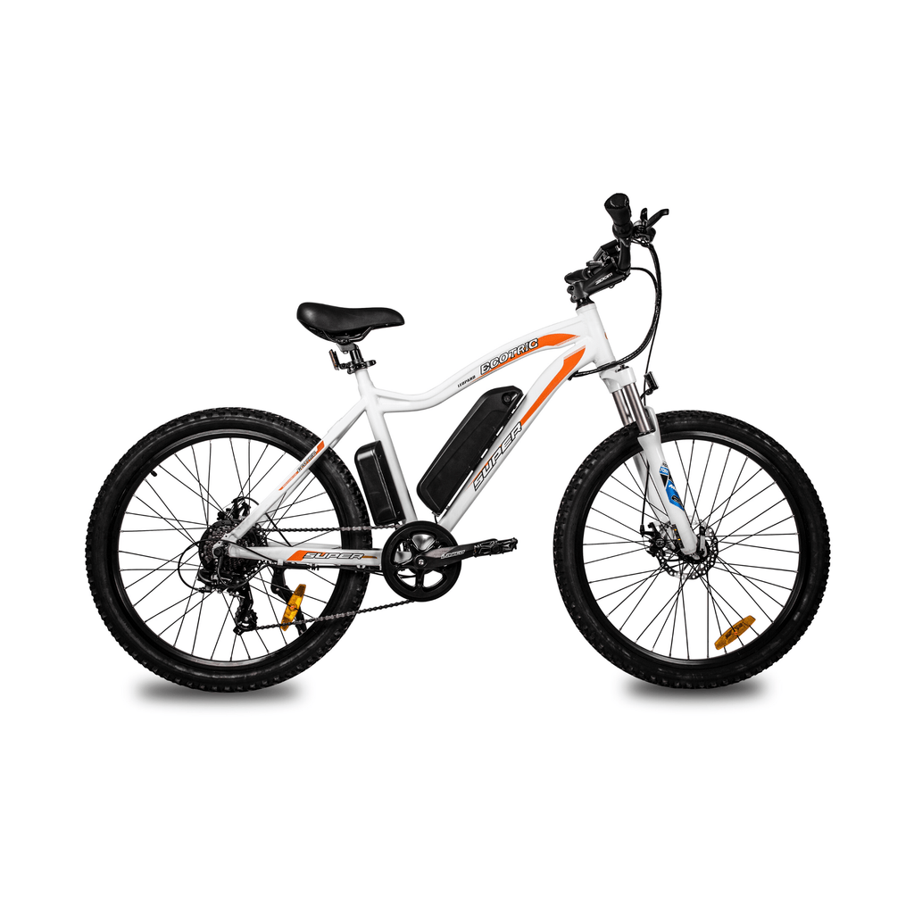 ECOTRIC Leopard Electric Mountain Bike white right side view