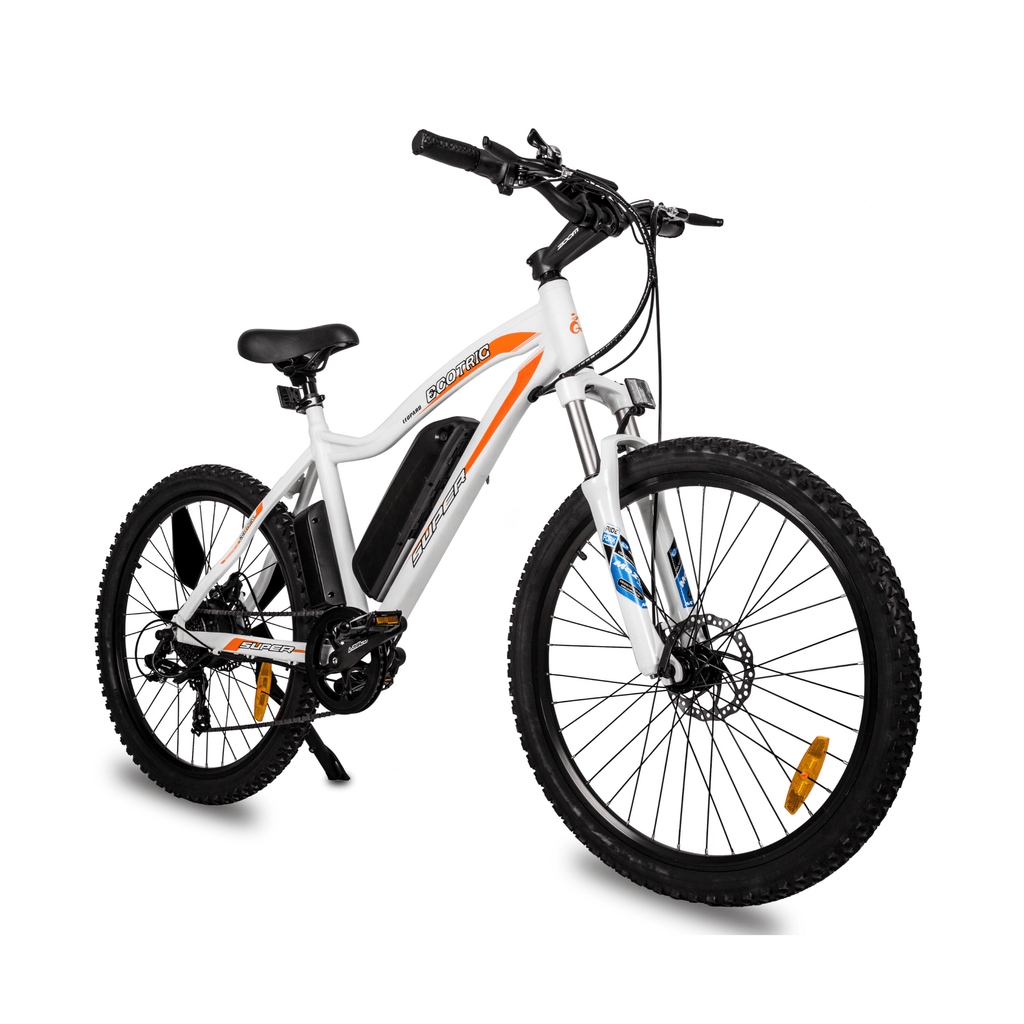 ECOTRIC Leopard Electric Mountain Bike front right angle view