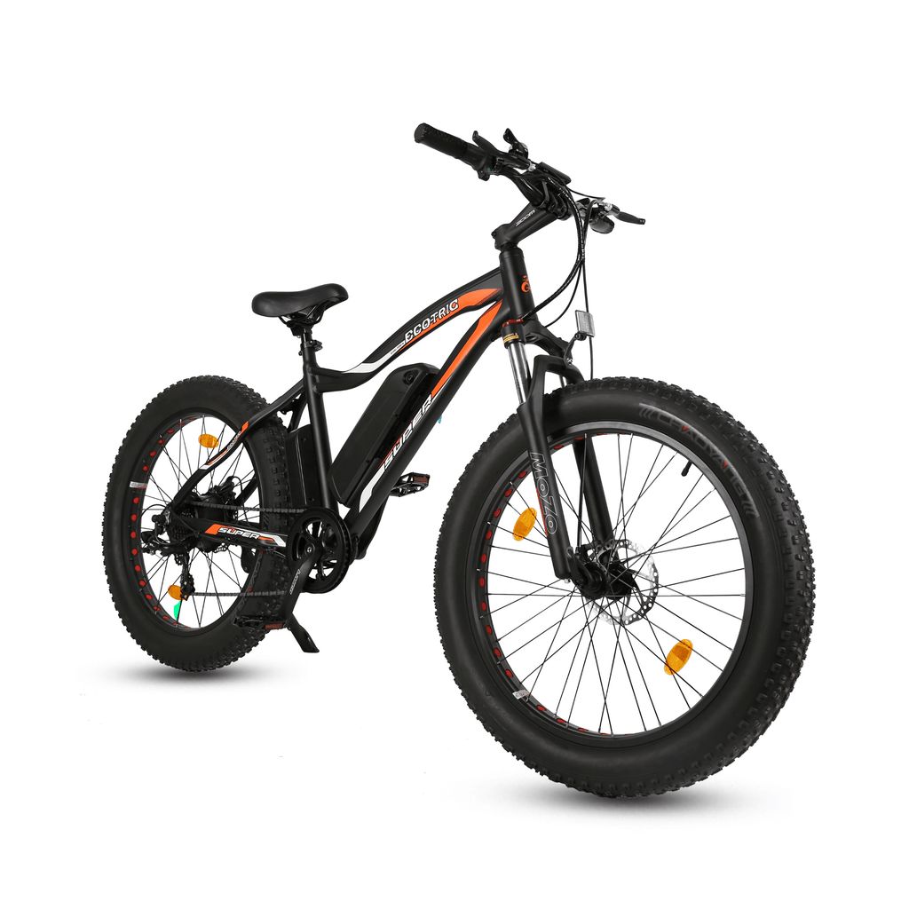 ECOTRIC Rocket Fat Tire Electric Bike black front angle view