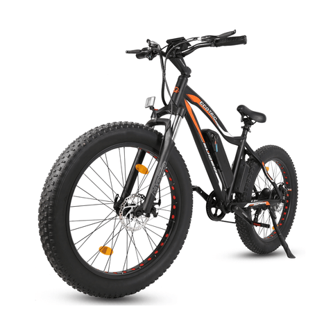 Image of ECOTRIC Rocket Fat Tire Electric Bike black front angle view