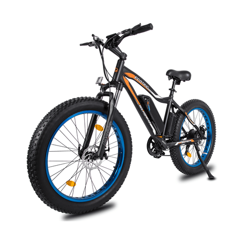 ECOTRIC Rocket Fat Tire Electric Bike blue front angle view