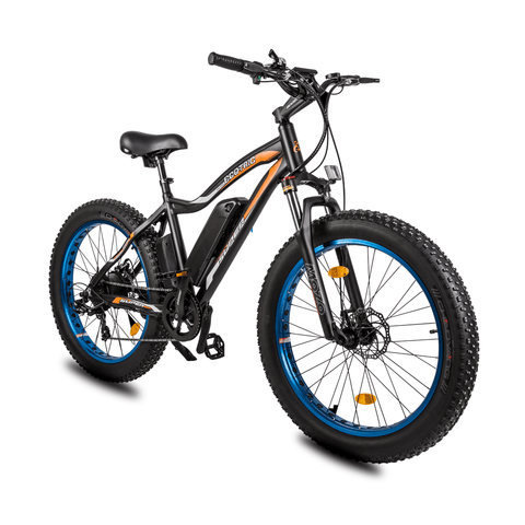 Image of ECOTRIC Rocket Fat Tire Electric Bike blue front angle view