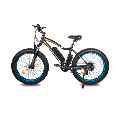 ECOTRIC Rocket Fat Tire Electric Bike blue side view
