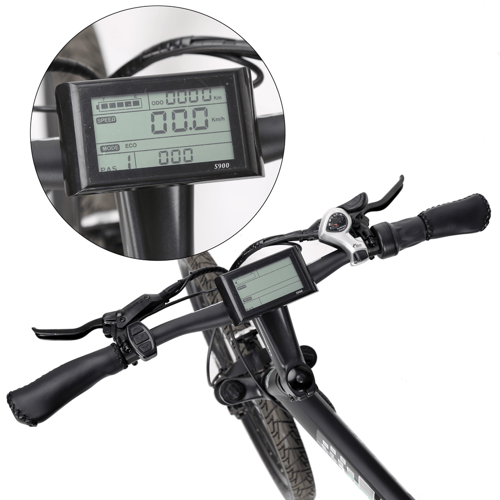 ECOTRIC Seagull Electric Mountain Bike LCD display close up