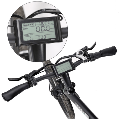 Image of ECOTRIC Seagull Electric Mountain Bike LCD display close up