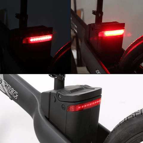 Image of ECOTRIC Seagull Electric Mountain Bike battery light close up