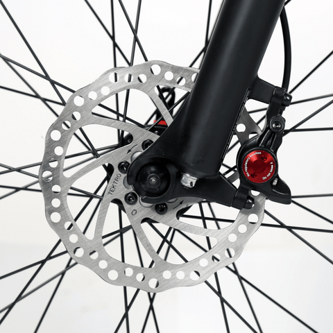 Image of ECOTRIC Seagull Electric Mountain Bike disc brakes close up