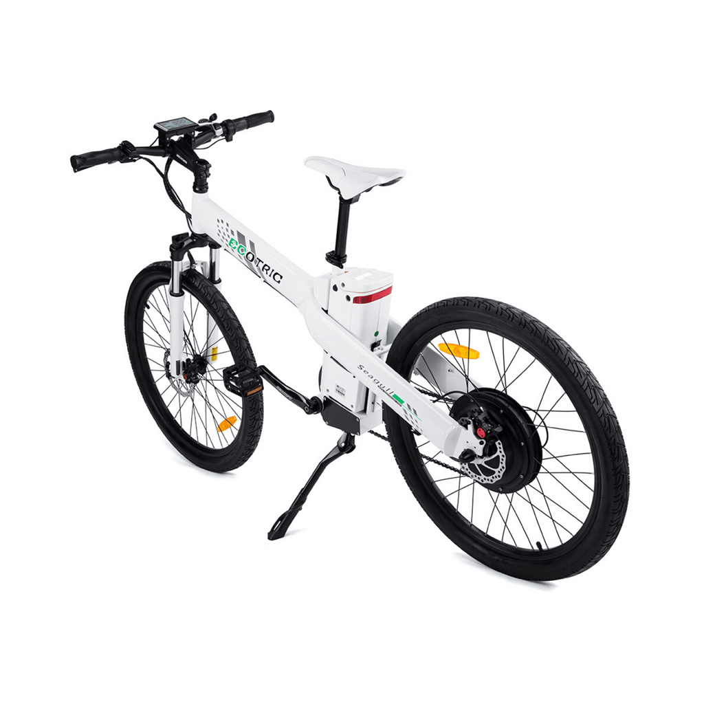 ECOTRIC Seagull Electric Mountain Bike rear white view