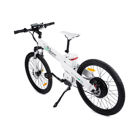 Image of ECOTRIC Seagull Electric Mountain Bike rear white view