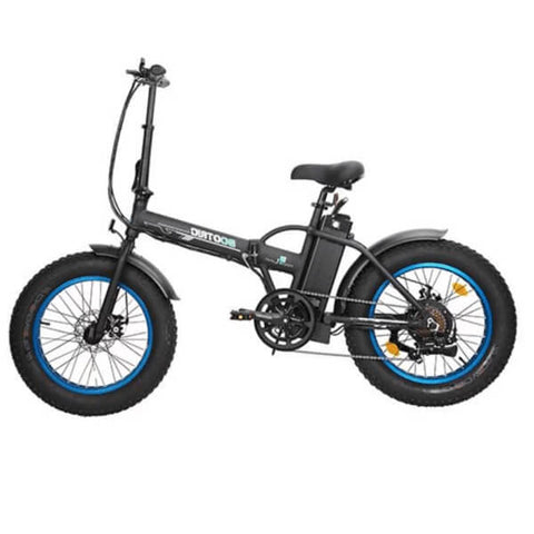 Image of ECOTRIC Fat Tire Foldable Electric Bike Black Side View