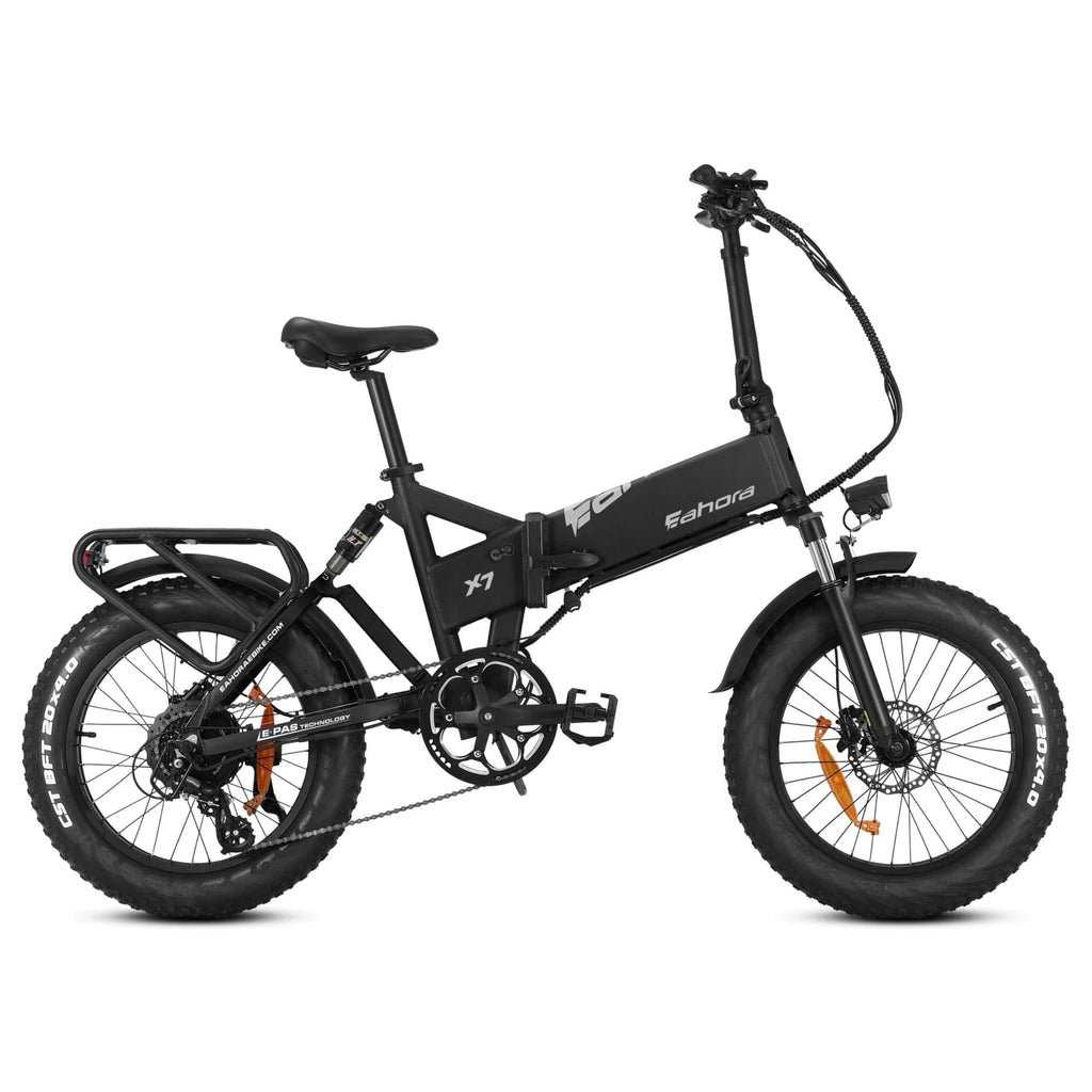 Eahora X7 Foldable Electric Bike green side view