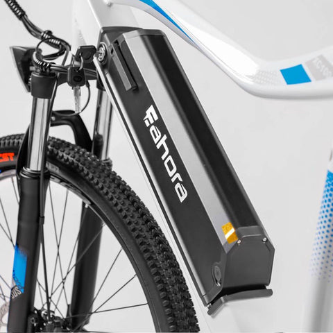 Image of Eahora XC100 Electric Bike battery close up