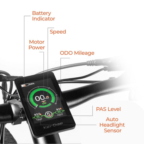 Image of Eahora XC100 Electric Bike display