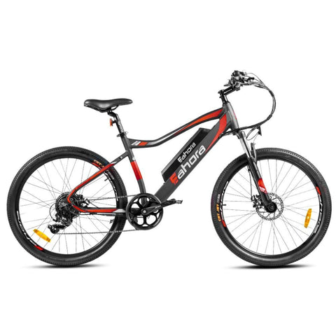 Image of Eahora XC100 Electric Bike red side view