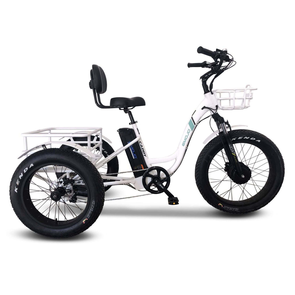 Emojo Caddy Pro Electric Bike  white side view