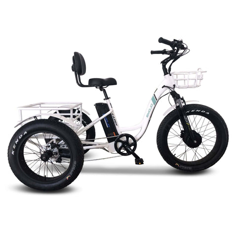 Image of Emojo Caddy Pro Electric Bike  white side view