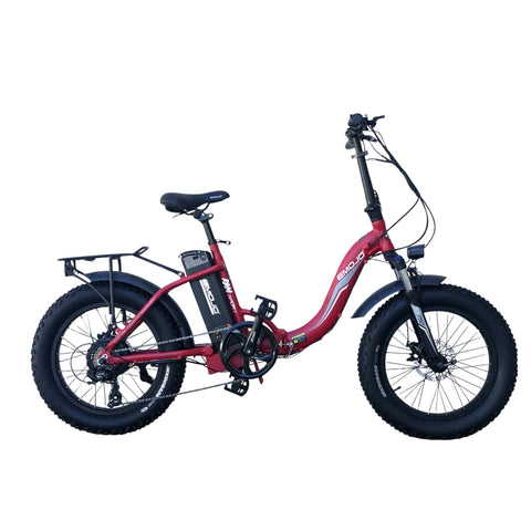Image of Emojo Ram SS Foldable Electric Bike red side view