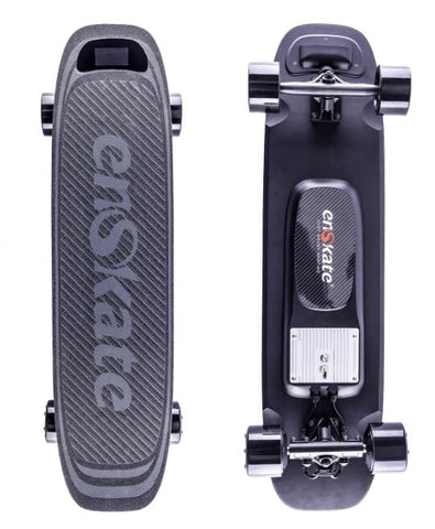 Image of Enskate Woboard Electric Skateboard Black Front and Back View