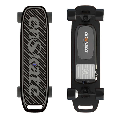 Image of Enskate Woboard Mini Electric Skateboard Black Front and Back