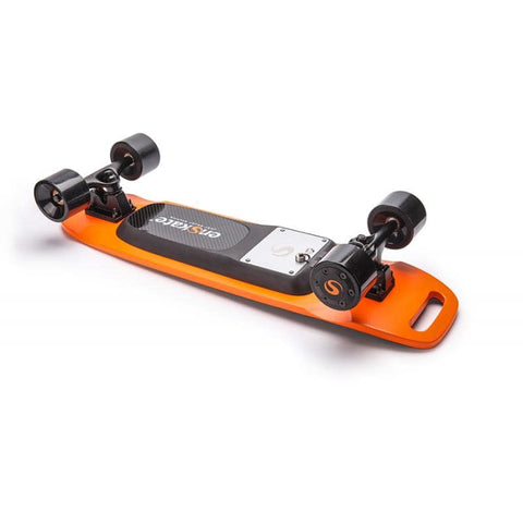 Image of Enskate Woboard Mini Electric Skateboard Orange Deck View