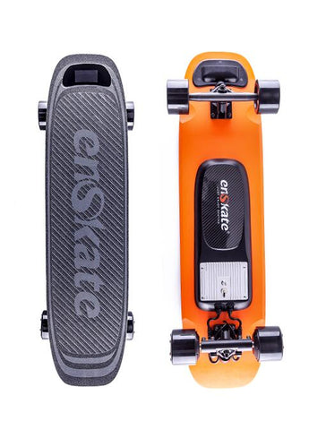 Image of Enskate Woboard Electric Skateboard Orange Front and Back View