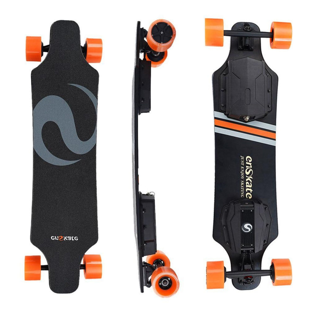 Enskate R3 Electric Skateboard front side and rear view