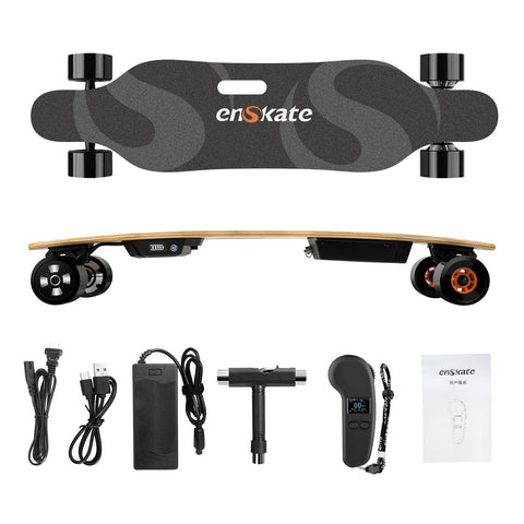 Enskate Bamboard R2 Electric Skateboard whats in the box