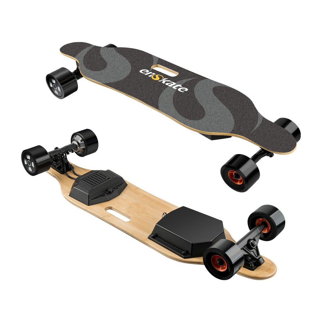 Enskate Bamboard R2 Electric Skateboard top and bottom view horizontal