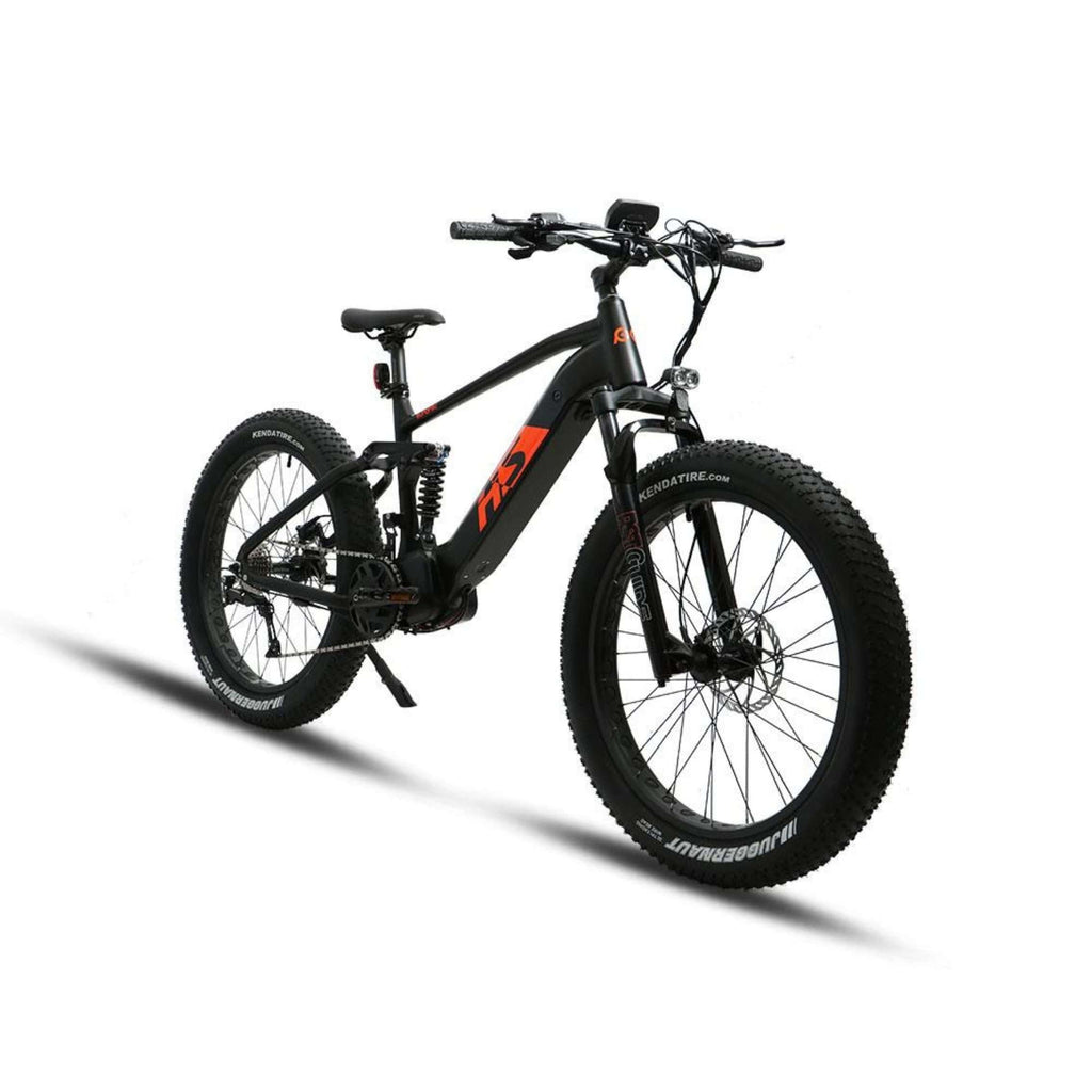 Eunorau 1000W FAT-HS Full Suspension Electric Bike front angle