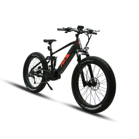 Image of Eunorau 1000W FAT-HS Full Suspension Electric Bike front angle