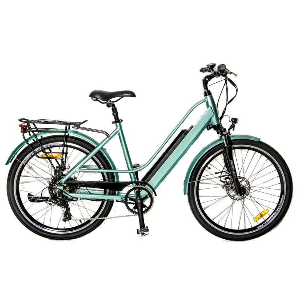 Eunorau E-Torque Step Through Electric Bike green side
